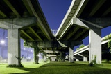 Highway Overpass at Night Photographic Print by Paul Souders