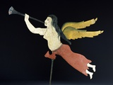 A Sheet Metal Angel Gabriel Weathervane Photographic Print