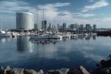 Sailboats Harbor at San Diego Embarcadero Photographic Print