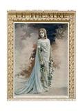 "Le Theatre of Mademoiselle Garden as Melisande in Debussy's ""Pelleas Et Melisande"" Giclee Print"