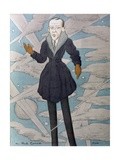 Caricature of Noel Coward Giclee Print by Max Beerbohm