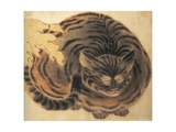 Contented Cat Giclee Print