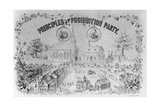 "American Lithograph ""Principles of the Prohibition Party"" Giclee Print"