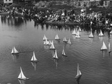 Model Yacht Regatta on a Pond Photographic Print by Edwin Levick