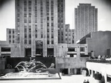 Prometheus Fountain at Rockefeller Plaza Photographic Print
