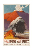 The New Empire State Express, New York Central System Rail Poster Reproduction procédé giclée