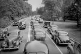 Traffic Jam Along a Parkway in Chicago, Ca. 1940 Photographic Print