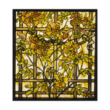 Tiffany Studios Trumpet Vine Leaded Glass Window Giclee Print