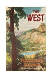 The West, Pennsylvania Railroad Go by Train Poster Giclee Print