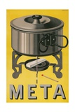 German Advertisement for Meta, Pot with Sterno Cube Giclee Print