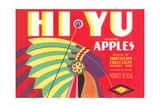 Hi Yu Apples Crate Label Giclee Print