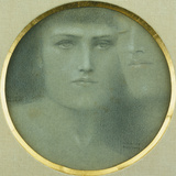 Caresses Photographic Print by Fernand Khnopff