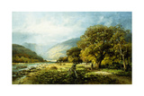 A Stroll Along the River Giclee Print by Andrew Melrose