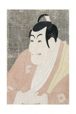 An Okubi-E Portrait of the Actor Ichikawa Ebizo IV in the Role of Takemura Sadanoshin Giclee Print by Toshusai Sharaku