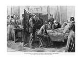 Death of Caroline Harrison Giclee Print