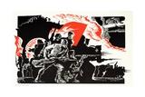Soviet Poster Marking 60th Anniversary of October Revolution Giclee Print