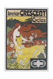 American Crescent Cycles French Advertising Poster Giclee Print