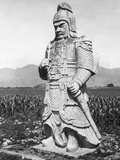 Stone Statue of Chinese General Photographic Print