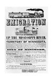 Emigration Up the Mississippi River Advertisement Giclee Print