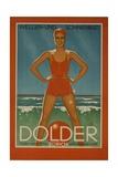 Dolder Grand Hotel Zurich Switzerland Travel Poster Wellen-Und Sonnenbad Giclee Print