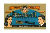 Pressing Oil Hair Tonic Label Giclee Print