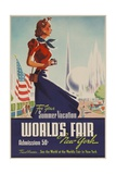 1939 New York World's Fair Poster, for Your Summer Vacation Reproduction procédé giclée