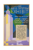 Visit the Bell System Exhibit Poster, Chicago World's Fair, 1935 Giclee Print
