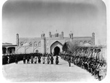 Military Ceremony in Front of Khudayar Khan Palace Photographic Print