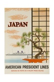 Japan American President Lines Cruise Poster Impression giclée