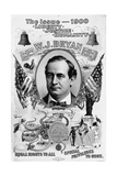 Political Poster for William Jennings Bryan Giclée-tryk