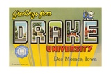 Postcard from Drake University Giclee Print
