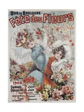 Fete Des Fleurs Poster Giclee Print by Louis Galice