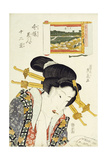 The Calculating Type from the Series Imayo Bijin Junikei (Twelve Scenes of Modern Beauties) Giclee Print by Keisai Eisen