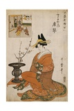 The Courtesan Karakoto of the Chojiya Seated Giclee Print by Kitagawa Utamaro