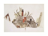 Red Chimneys Reproduction procédé giclée par Charles Demuth