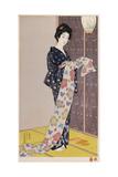 Young Woman in a Summer Kimono Giclee Print by Hashiguchi Goyo