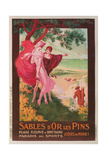 Travel Poster for Brittany, France Reproduction procédé giclée