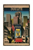 Ad for Insulite Insulation, City Scape Giclee Print
