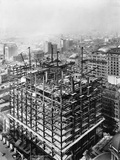 Construction of the Woolworth Building, New York Stampa fotografica