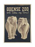 Odense Zoo Poster Giclee Print
