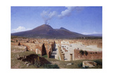 Vesuvius from Pompei Giclee Print by Louis Spangenberg
