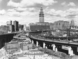 Carl McDow - Skyline of Cleveland Fotografická reprodukce