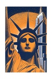 Head of Statue of Liberty Giclee Print