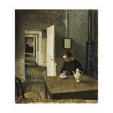 An Interior, Strandgade 25 Giclee Print by Vilhelm Hammershoi