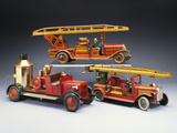 A Tipp and Company Tinplate Keywind Overhead Ladder Fire Engine Photographic Print
