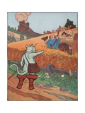 Illustration from Puss in Boots Giclee Print