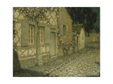 The Gardener's House in the Moonlight, Gerberoy Gicleetryck av Henri Le Sidaner