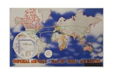 Imperial Airways Travel Poster, a Route Map of the Empire and European Air Routes Giclee Print