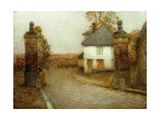 The Pillars, Gerberoy Giclee Print by Henri Le Sidaner