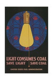 Light Consumes Coal Giclee Print